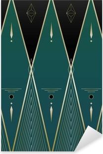Pixerstick Dekor Diamonds Art Deco Bakgrund