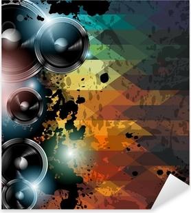 Pixerstick Dekor Disco club flyer mall. Abstrakt bakgrund för att använda för musik