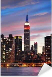 Pixerstick Dekor Empire State Building på natten