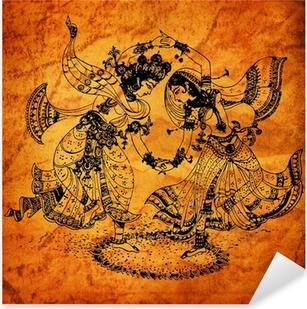 Pixerstick Dekor En gammal Radha Krishna målningar
