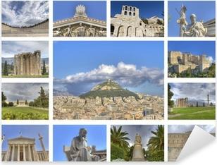 Pixerstick Dekor Gamla och klassiska byggnader i Aten Grekland