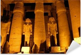 Pixerstick Dekor Giant kolumner av forntida egyptisk stad Luksor