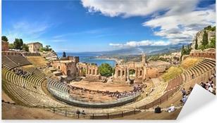 Pixerstick Dekor Griechisches Teater i Taormina, Sizilien