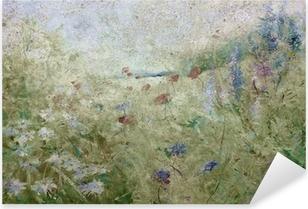 Pixerstick Dekor Grunge blomsteräng sommar