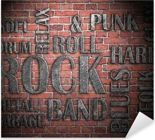 Pixerstick Dekor Grunge rockmusik affisch