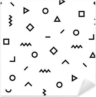 Pixerstick Dekor Hipster Memphis mönster med geometriska former
