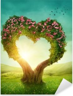 Pixerstick Dekor Hjärtformade träd