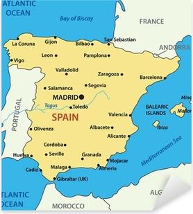 Karta Spanien Granada.Fototapet Karta Over Spanien Vektor Illustration Pixers Vi