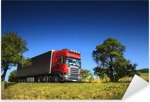 Pixerstick Dekor Lastbil på vägen