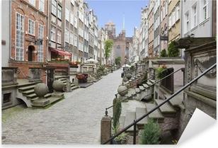 Pixerstick Dekor Mariacka Street i Gamla stan i Gdansk, Polen
