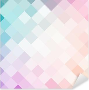 Pixerstick Dekor Mosaik färgglada mönster
