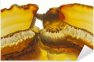 Pixerstick Dekor Närbild av en skiva Agate Gemstone
