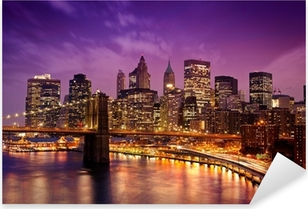 Pixerstick Dekor New York Manhattan Pont de Brooklyn
