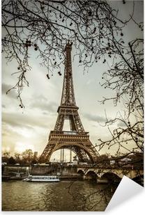 Pixerstick Dekor Parigi Tour Eiffel Tramonto