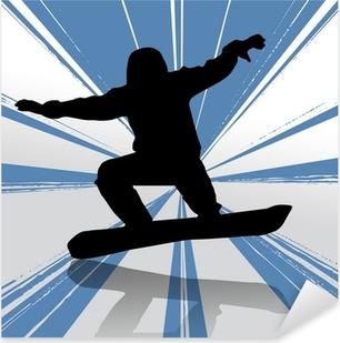Pixerstick Dekor Snowboard