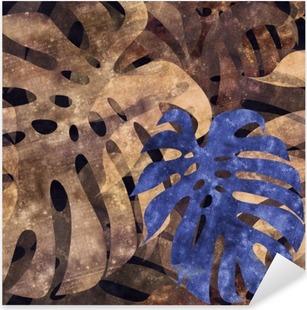 Pixerstick Dekor Sömlös repeterbar monstera blad bakgrund