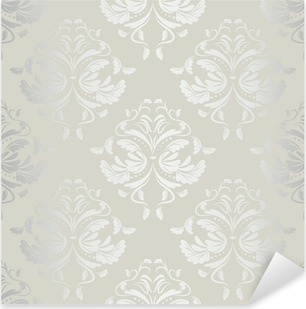 Pixerstick Dekor Sömlös wallpaper.damask pattern.floral bakgrund