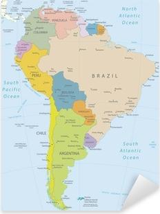 Pixerstick Dekor Sydamerika-mycket detaljerade map.Layers används.
