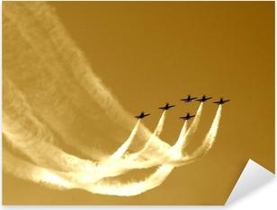 Pixerstick Dekor Synkroniserad laget flyg-flyga i formationer
