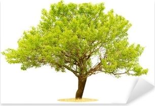 Pixerstick Dekor Träd isolerad på en vit bakgrund.
