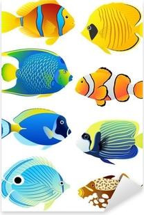 Pixerstick Dekor Uppsättning av tropiska fiskar