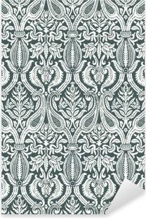 Pixerstick Dekor Vector seamless blom- damastast mönster vintage abstrakt backgroun