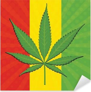 Pixerstick Dekor Vektor cannabis blad