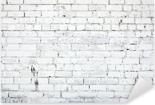 Pixerstick Dekor Vit tegelvägg