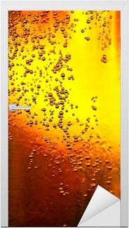 Deursticker Glas bier met bubbels