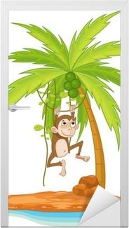 Deursticker Monkey