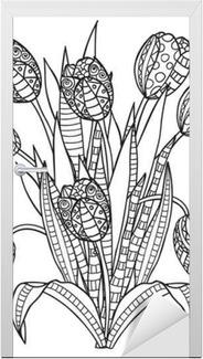 Kleurplaten Bloemen Tulpen.Poster Tulpen Bloemen Sier Zwart Wit Kleurplaten Pixers We