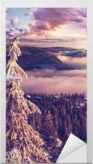 Deursticker Winter in Noorwegen