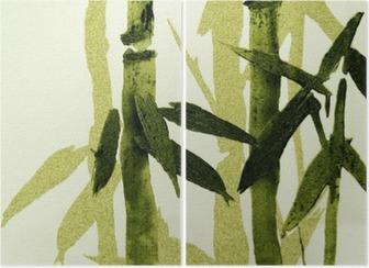 Díptico Bamboo texture