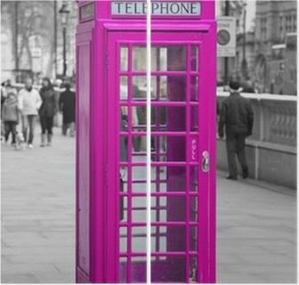Díptico Cabine de telefone em Londres