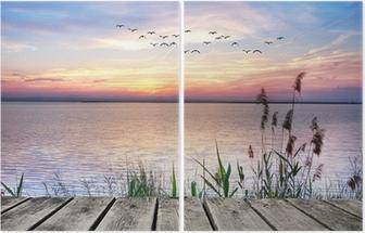 Díptico El lago de las nubes de colores
