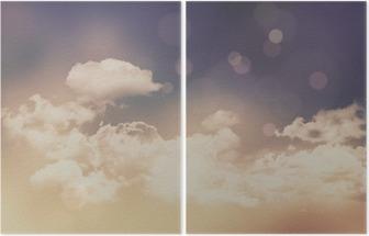 Díptico Nuvens retros e fundo do céu