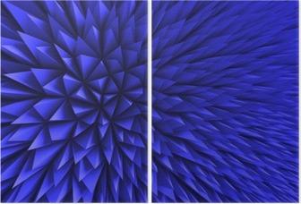 Díptico Resumen Antecedentes Polígono caótico azul
