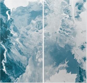 Díptico Textura de mármol azul