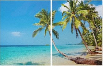 Díptico Tropical beach
