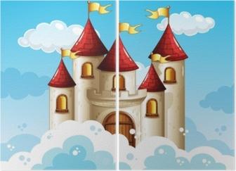 A Fairy Tale Castle on Sky Diptych
