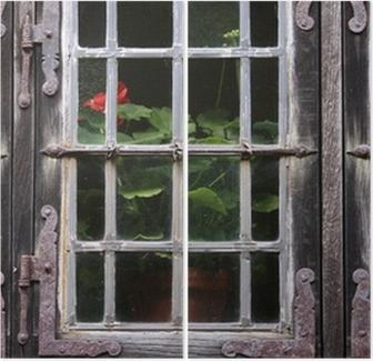 Altes Fenster altes fenster mit geranie wall mural pixers we live to change