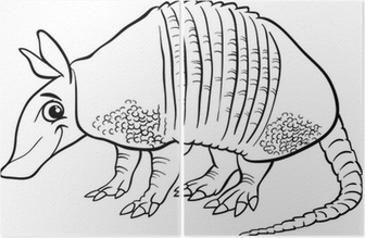 armadillo animal coloring pages. armadillo animal cartoon coloring page Diptych Wall Mural  Pixers We