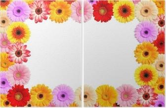 Blumen Bilderrahmen bilderrahmen aus bunten frühlings blumen wall mural pixers we
