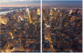 Birdseye view of Manhattan Diptych