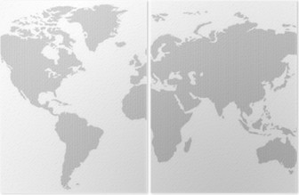 Black and white vertical line pattern world map negative wall mural black and white vertical line pattern world map negative diptych gumiabroncs Images