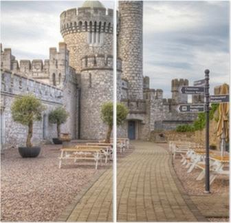 blackrock castle and observarory in cork ireland diptych