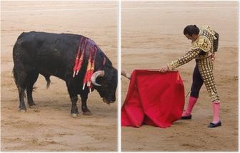 Bullfight in Barcelona Diptych