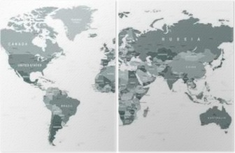Grayscale world map borders countries and cities illustration grayscale world map borders countries and cities illustration highly detailed gray vector illustration gumiabroncs Gallery