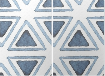 Hand drawn watercolor seamless pattern Diptych
