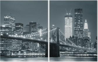 New York City Brooklyn Bridge Diptych